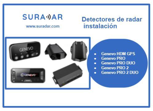 Detectores de radar instalación